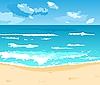 해변에서 아름 다운 여름 배경 | Stock Vector Graphics