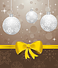 Boże Narodzenie z kulkami | Stock Vector Graphics