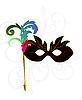 Karneval oder Theater-Maske