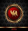 goldene Medaillon mit heraldischen Adler