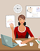 Business-Frau mit Dokumenten