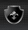 Wappenschild auf metallischem Hintergrund