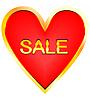 Serce na sprzedaż | Stock Vector Graphics