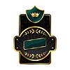 Królewska etykieta z ramką złotą | Stock Vector Graphics