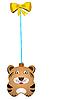 Weihnachts-Spielzeug Tiger