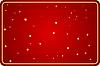 红色的背景与明星 | 向量插图