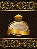 Luxus-Hintergrund mit Krone