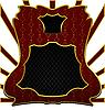 Luxuriöse die dekorative Form Emblem