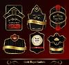 dekorative dunkle Goldrahmen Etiketten