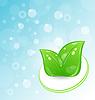 Ökologie - Hintergrund mit Blättern