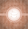 Vintage Hintergrund mit Kaffee-Label, Kaffeebohne `s Textur