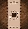 Vintage-Hintergrund für Kaffee-Menü, Textur von Kaffeebohnen