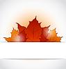 Herbstliche Ahornblätter ragte aus Papier