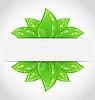 Bio Konzeption umweltfreundliche Banner