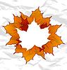 Herbstliche Ahornblätter, zerknittertes Papier Textur,