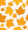 Herbstliche Ahornblätter, nahtloser Hintergrund
