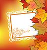 Herbst Ahorn-Blätter mit floralen Grußkarte