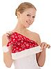 ID 3123326 | Piękne dziewczyny gospodarstwa Christmas hat | Foto stockowe wysokiej rozdzielczości | KLIPARTO