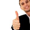 ID 3123662 | Geschäftsmann mit Finger nach oben | Foto mit hoher Auflösung | CLIPARTO