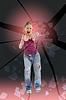 ID 3278249 | Aggressives Mädchen zerschlägt Glas mit Faust | Foto mit hoher Auflösung | CLIPARTO
