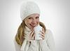 ID 3280029 | Dziewczyna w zimie kapelusz i szalik z gorącym napojem | Foto stockowe wysokiej rozdzielczości | KLIPARTO