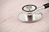 ID 3280160 | Stetoskop medycznych na wykresie EKG | Foto stockowe wysokiej rozdzielczości | KLIPARTO