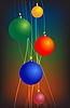 ID 3089261 | Jasne linie z bombkami | Stockowa ilustracja wysokiej rozdzielczości | KLIPARTO