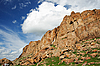Felsen und bewölkter Himmel | Stock Foto