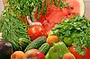 Buntes frischse Gemüse mit Obst | Stock Foto