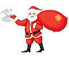 ID 3110595 | Weihnachtsmann und Taube | Stock Vektorgrafik | CLIPARTO