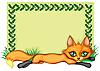 Rahmen mit einem Fuchs