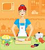 ID 3127906 | Kobieta w kuchni | Klipart wektorowy | KLIPARTO
