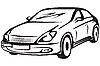 Vector clipart: contour of the automobile