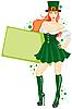 Mädchen von St. Patricks Day