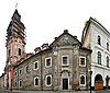 Alte Häuser in Kamjanez-Podilskyj | Stock Foto