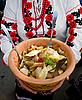 Ukrainische Käseklößchen | Stock Foto