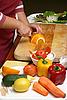 Zubereitung vom Salat | Stock Foto