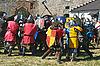 Festival der mittelalterlichen Kultur in Medschybisch | Stock Foto