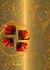 ID 3092839 | Floral abstrakcyjny czyszczenie złota | Stockowa ilustracja wysokiej rozdzielczości | KLIPARTO