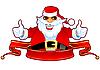 멋진 산타와 리본 | Stock Vector Graphics