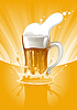 Векторный клипарт: Кружка свежего пива