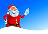 겨울 카드에 행복 한 산타 | Stock Vector Graphics