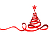 Лента в виде новогодней елки | Векторный клипарт