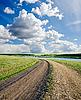 农村公路的领域 | 免版税照片