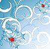 卷曲的圣诞背景下 | 向量插图