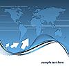 blauer abstrakter Hintergrund mit Weltkarte
