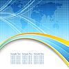 세계지도 함께 파란색 추상적 인 배경 | Stock Vector Graphics