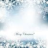 蓝色圣诞贺卡的雪花 | 向量插图