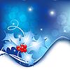 明亮的圣诞卡 | 向量插图