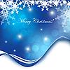 blaue Weihnachtskarte mit Schneeflocken